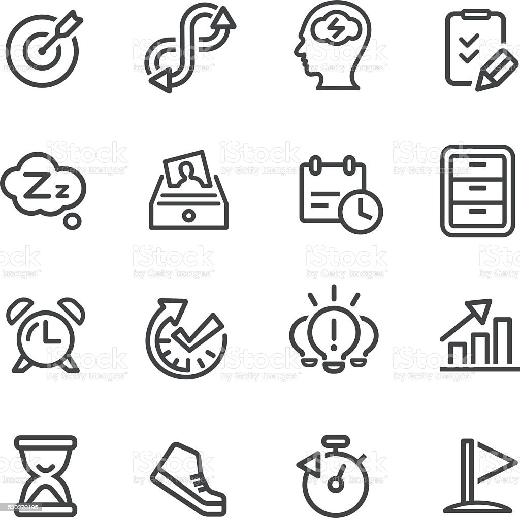 Productivity Icons - Line Series vector art illustration