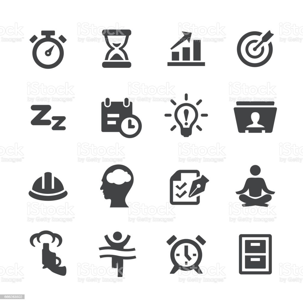Productivity Icons Set - Acme Series vector art illustration