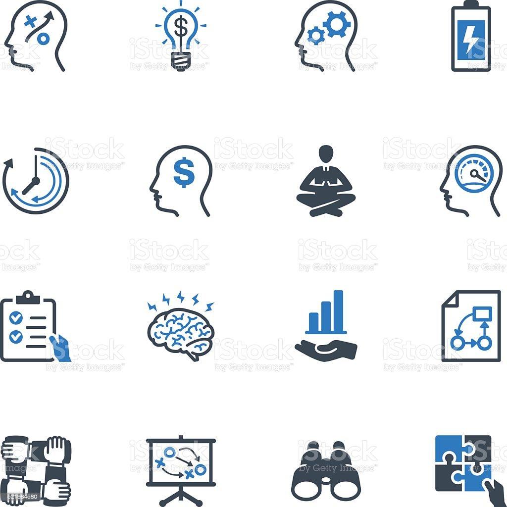 Productivity Improvement Icons Set 2 - Blue Series vector art illustration
