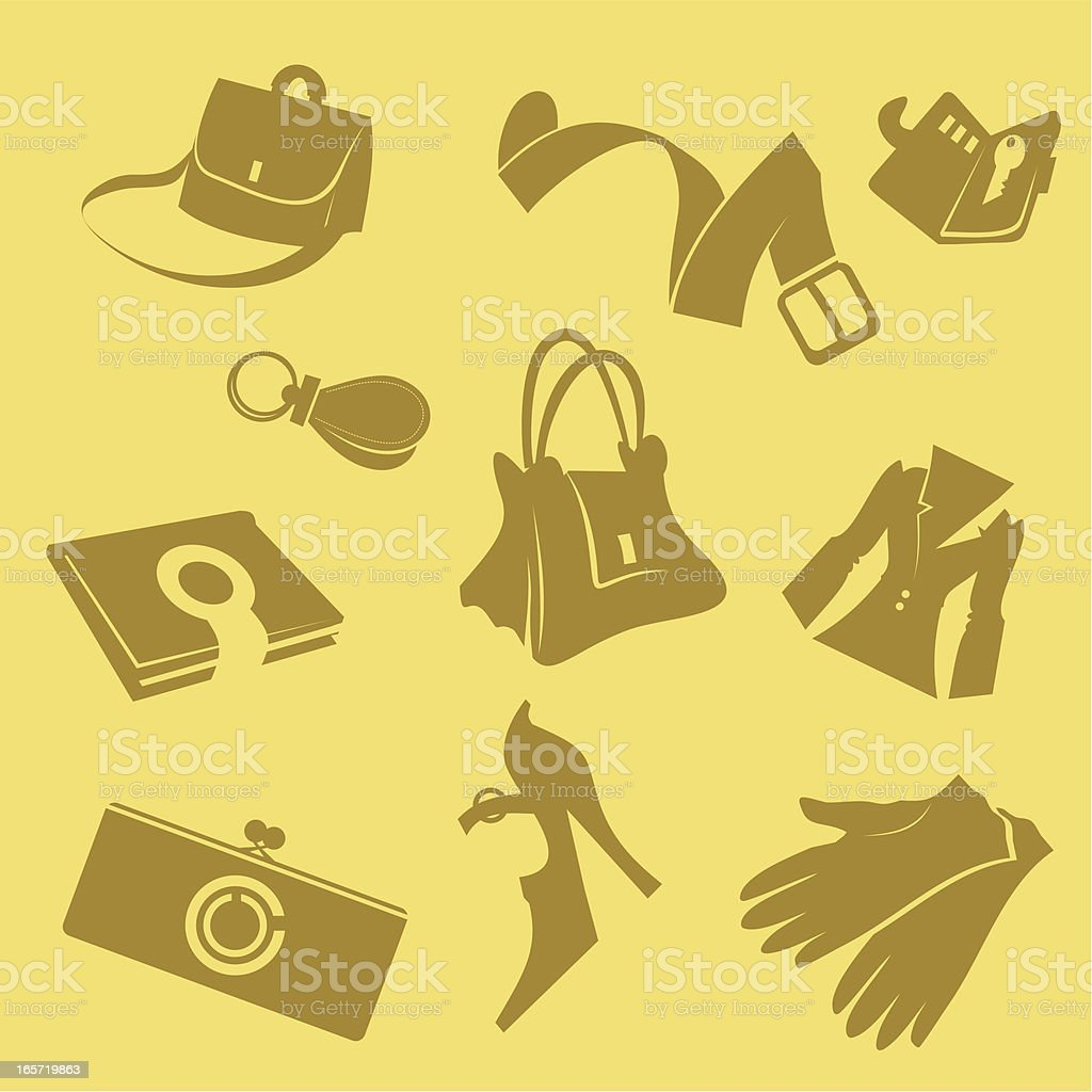 Products from a skin royalty-free stock vector art