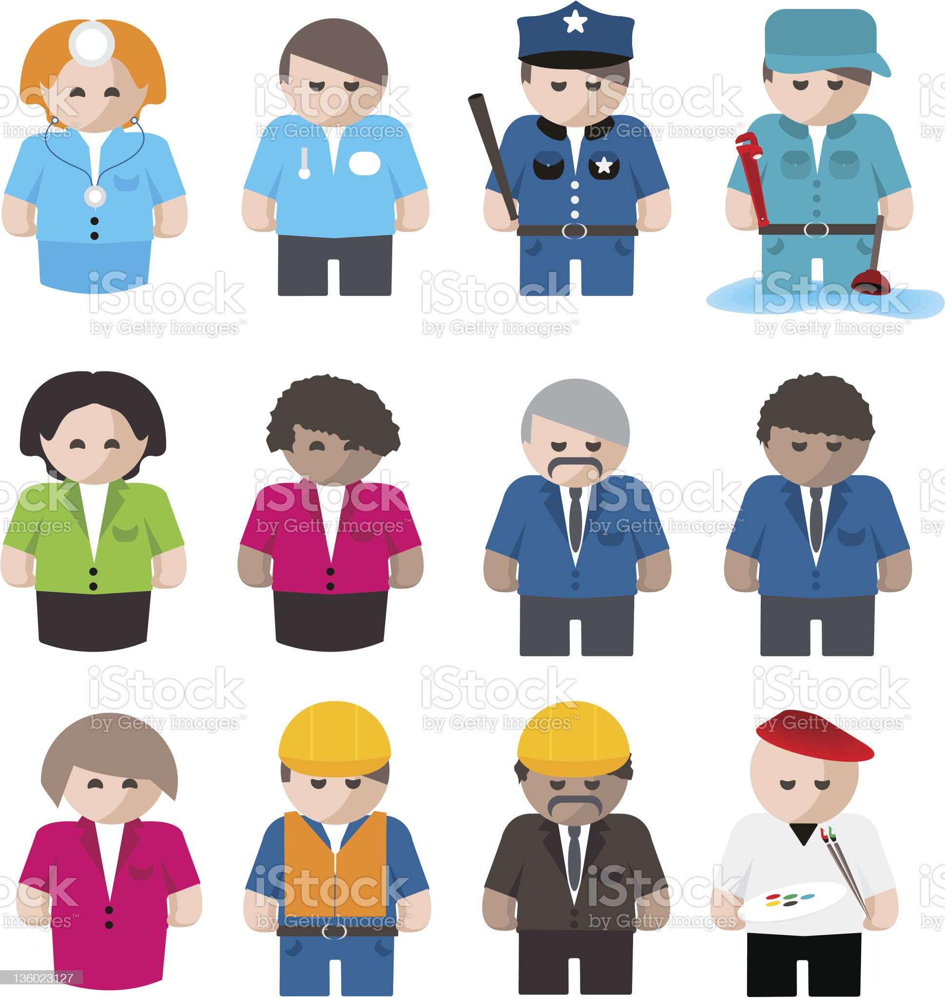 Profession Characters royalty-free stock photo