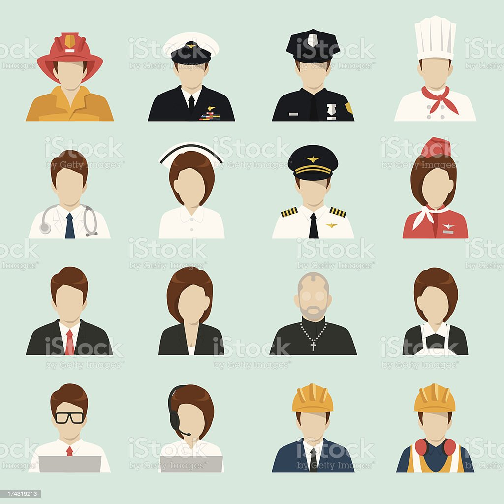 profession people icons vector art illustration