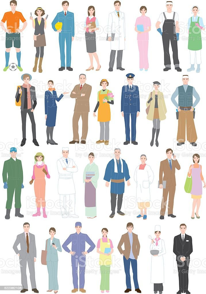 Profession  Workers vector art illustration