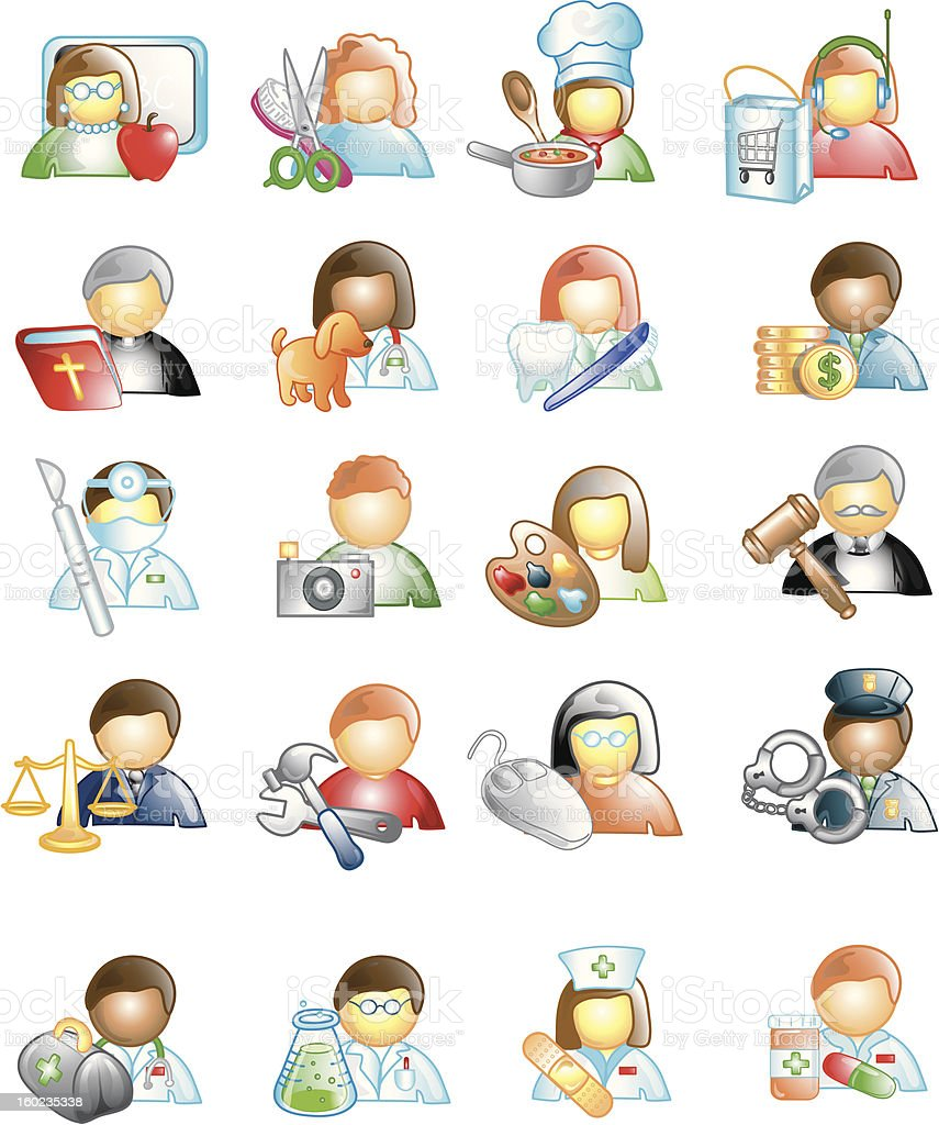 Professional Career Icons royalty-free stock vector art
