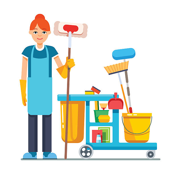 Janitor clip art vector images illustrations istock - Salon art definition ...