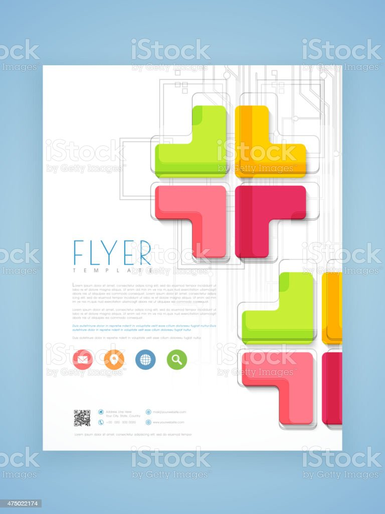 professional flyer template or brochure design stock vector art professional flyer template or brochure design royalty stock vector art