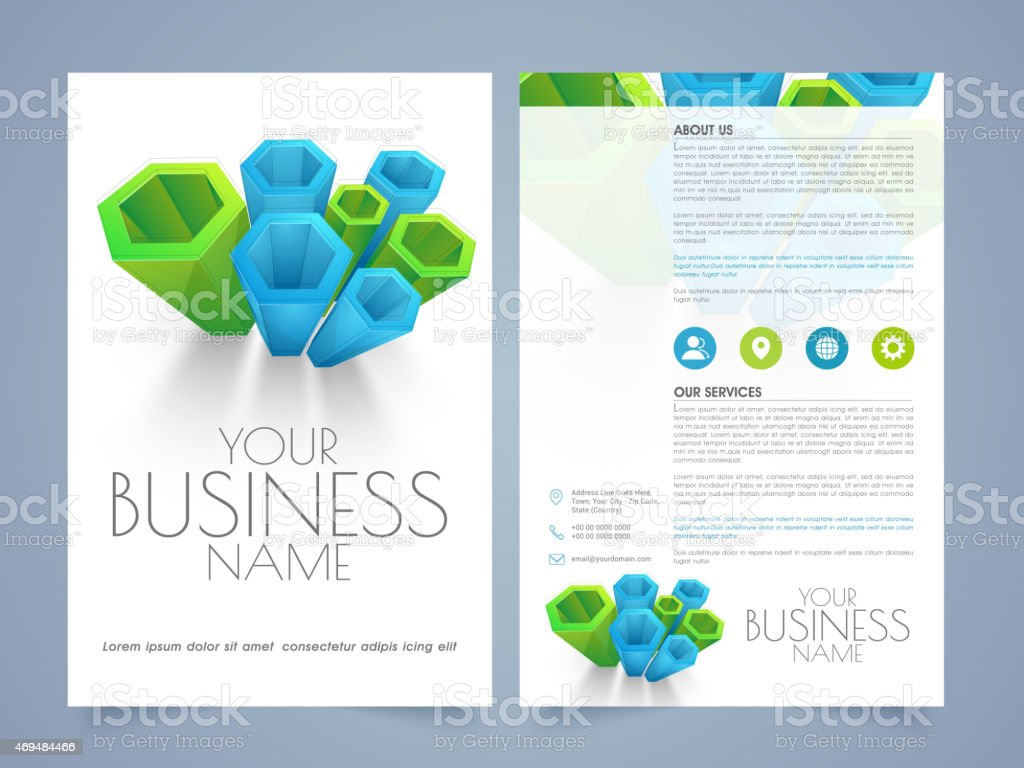 professional flyer template or brochure stock vector art 469484466