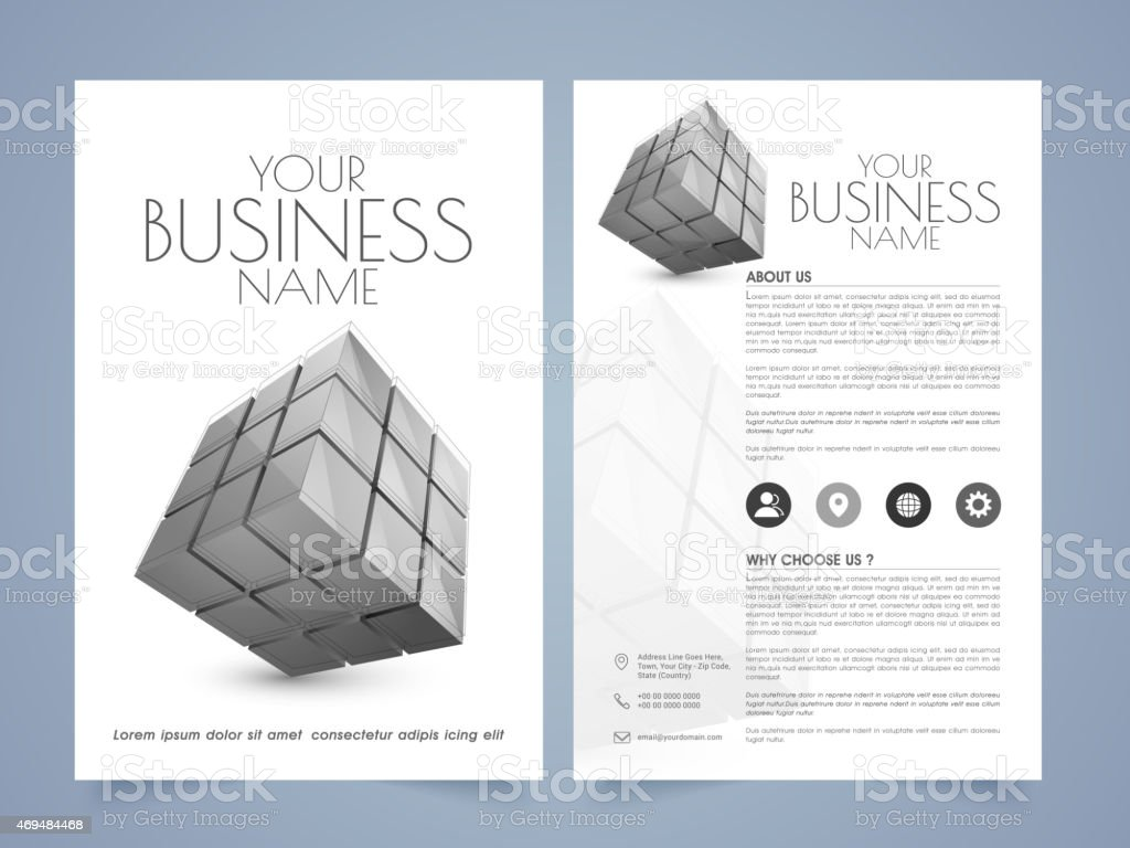 professional flyer template or brochure stock vector art 469484468 professional flyer template or brochure royalty stock vector art
