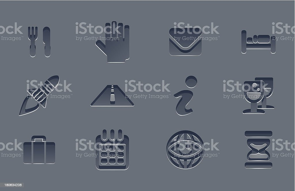 Professional grey app icon set royalty-free stock vector art