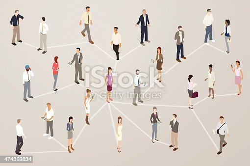 Professional Network Illustration