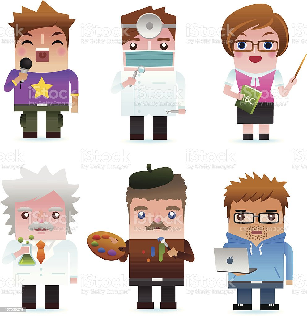 Professional occupation Icons royalty-free stock vector art