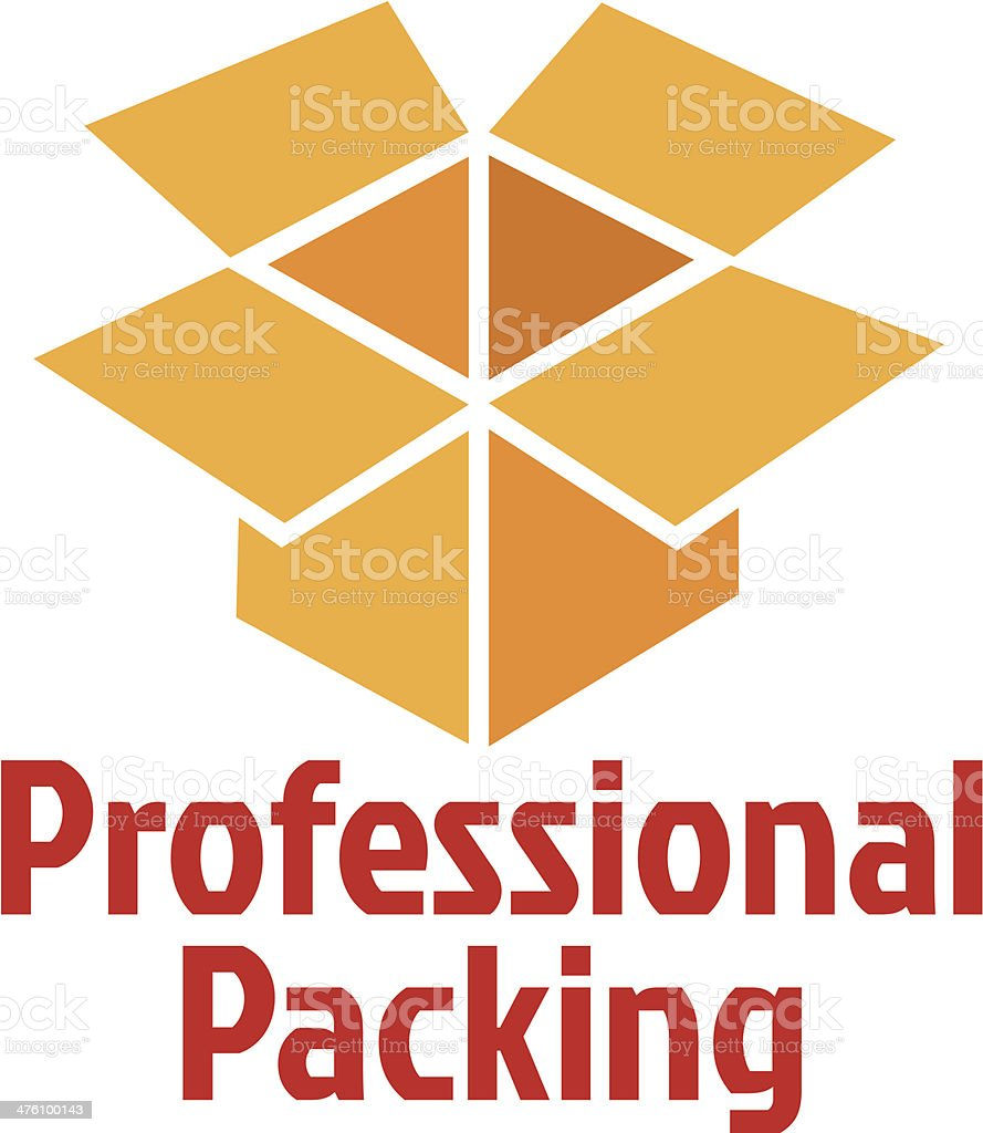 professional packing service vector art illustration