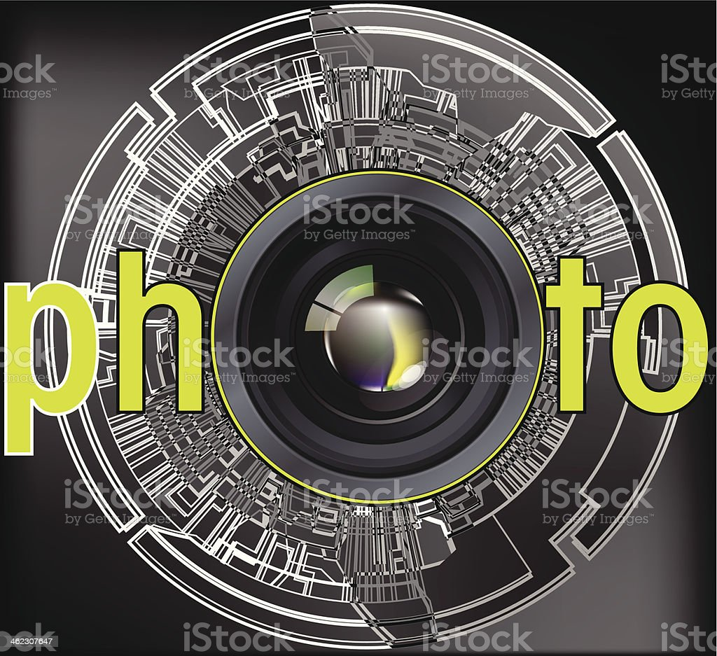 Professional photo lens royalty-free stock vector art