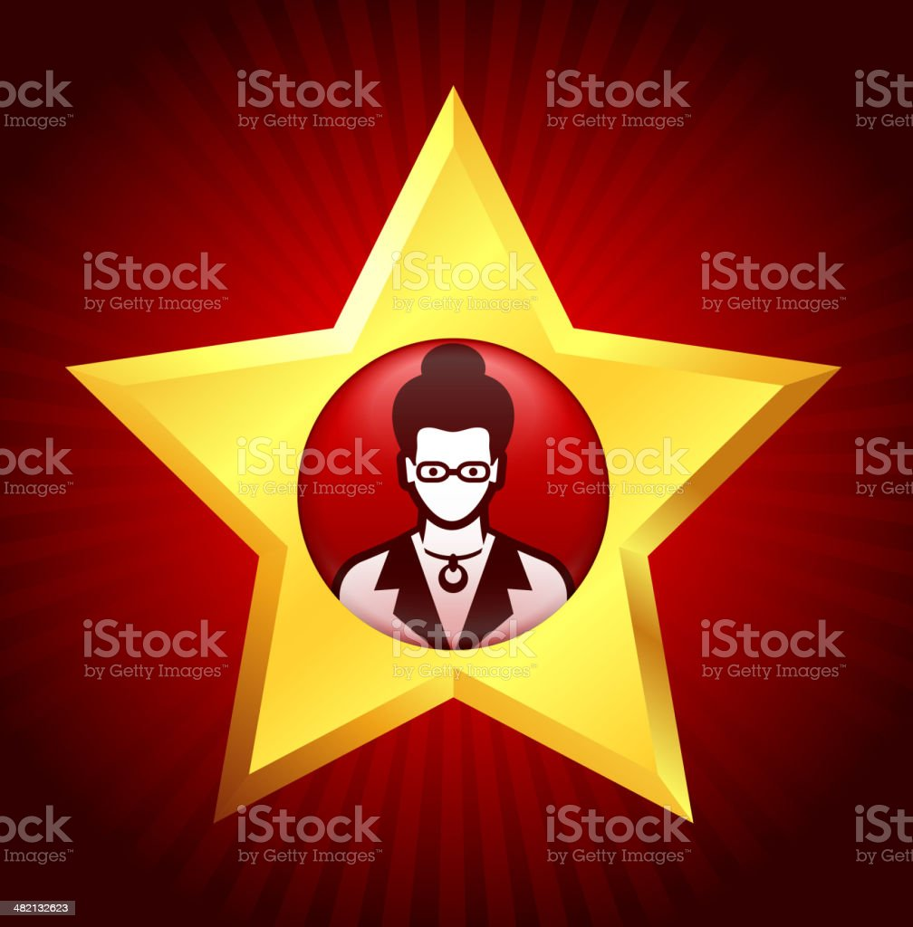 Professional Success and Role Model royalty-free stock vector art