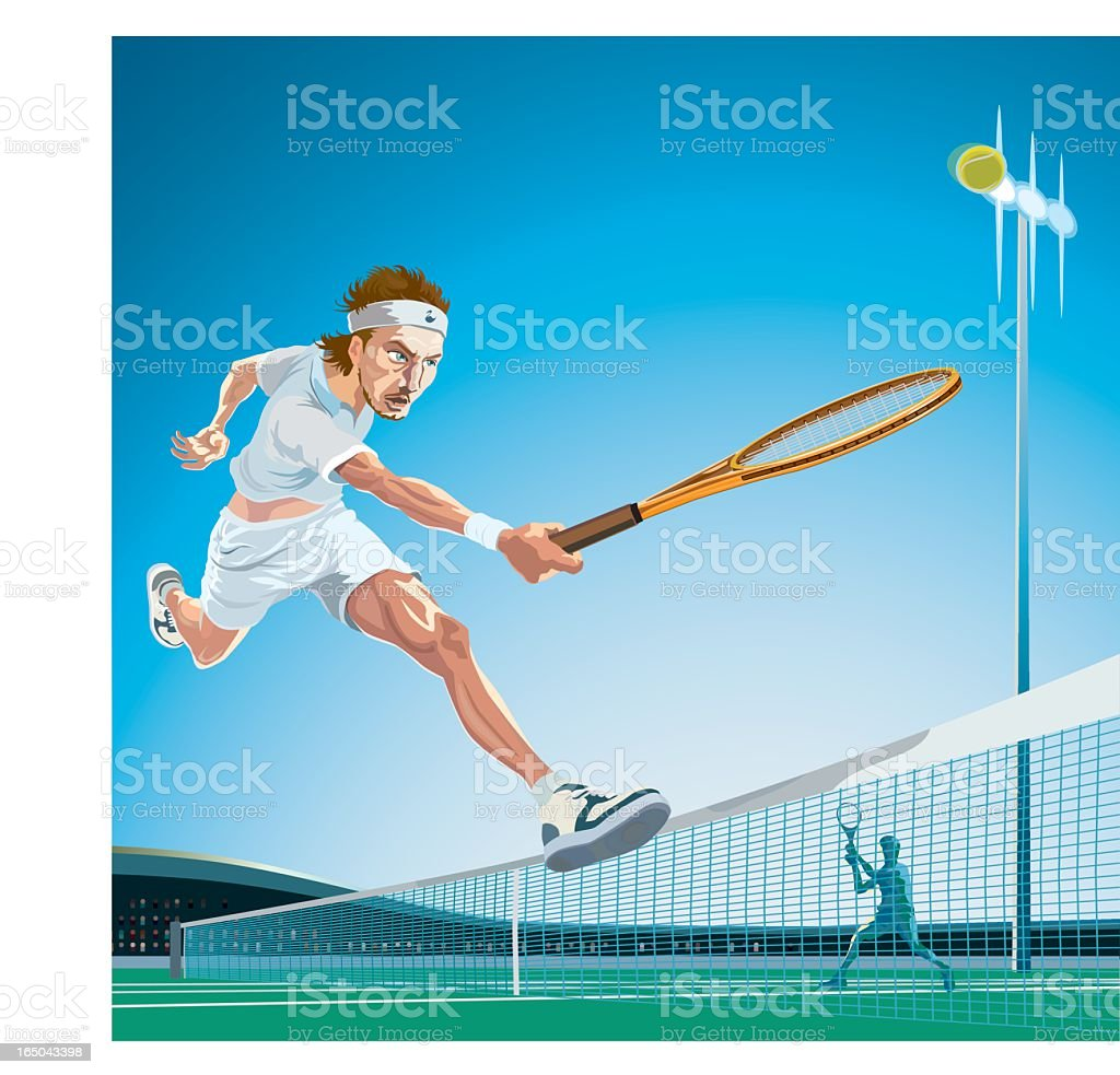 professional tennis player royalty-free stock vector art