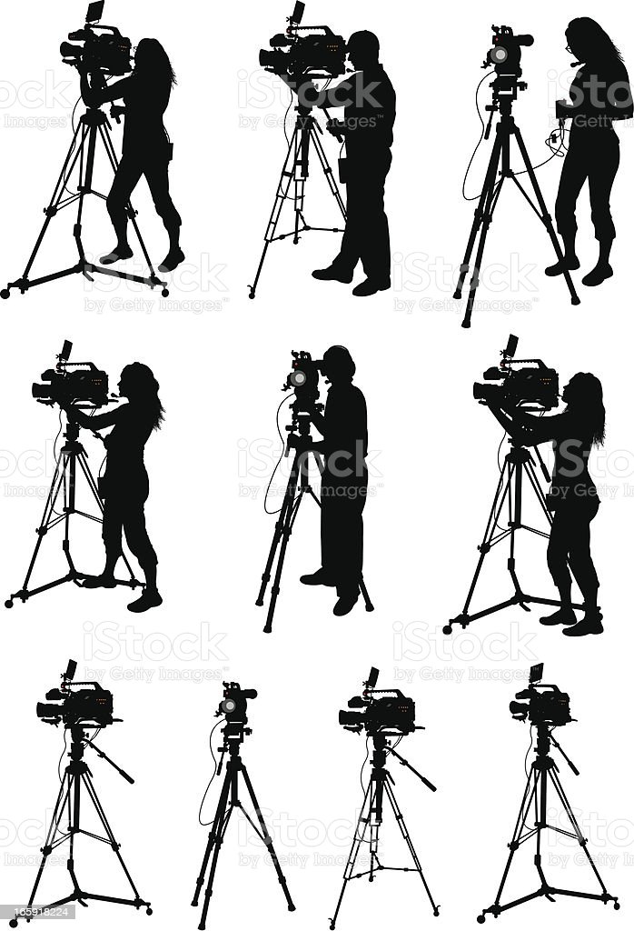 Professional Video Equipment - Videographer royalty-free stock vector art