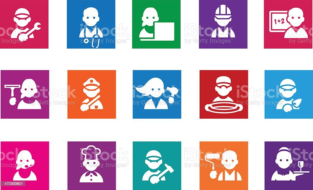 Professions icons royalty-free stock vector art
