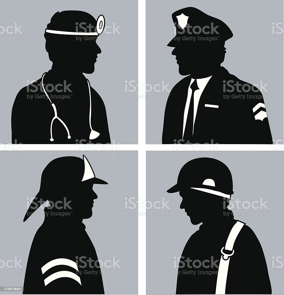 Professions royalty-free stock vector art