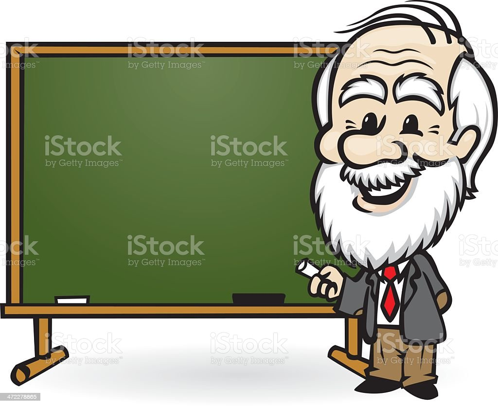 professor chalkboard royalty-free stock vector art