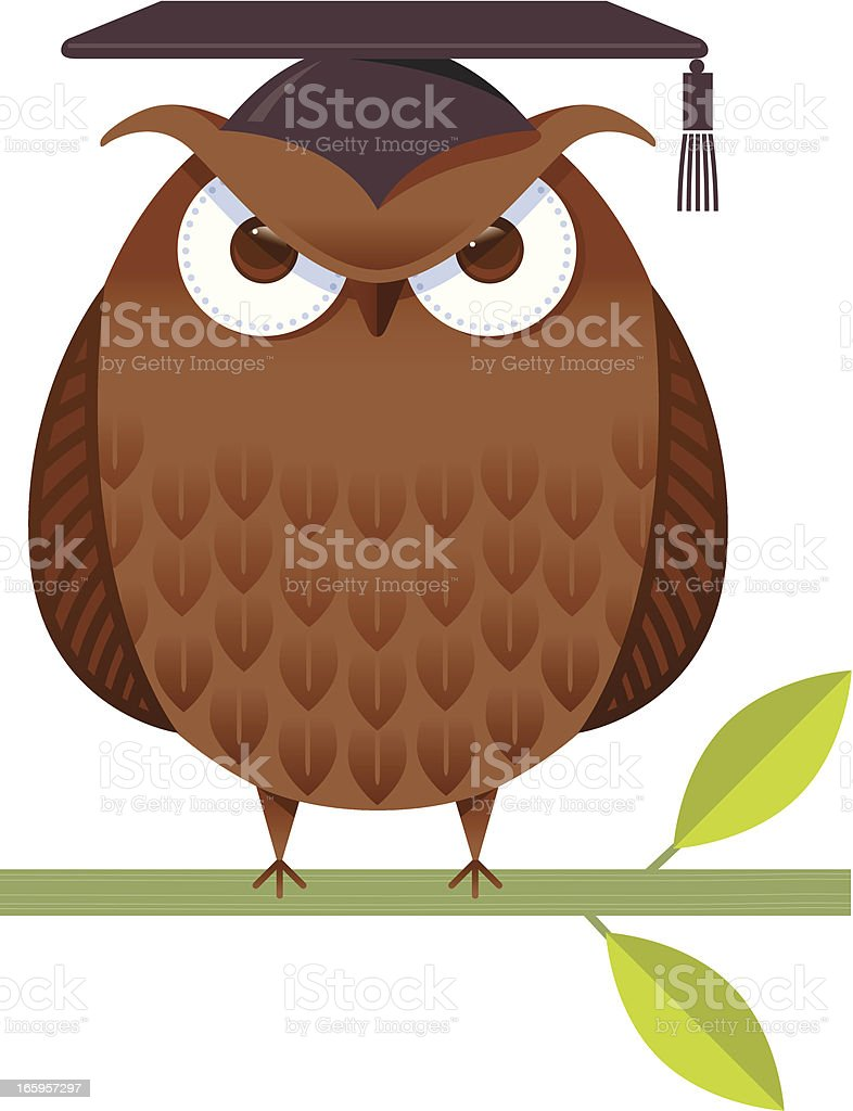 Professor Owl vector art illustration