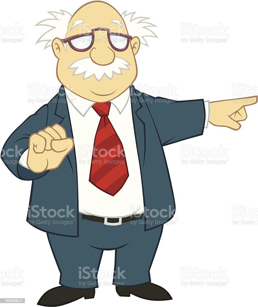 Professor Pointing royalty-free stock vector art