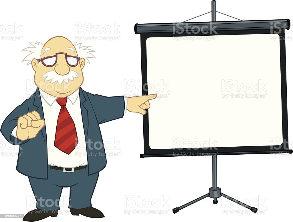 Professor Pointing royalty-free stock vector art