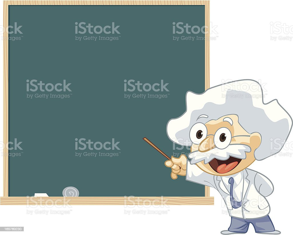 Professor presentation royalty-free stock vector art