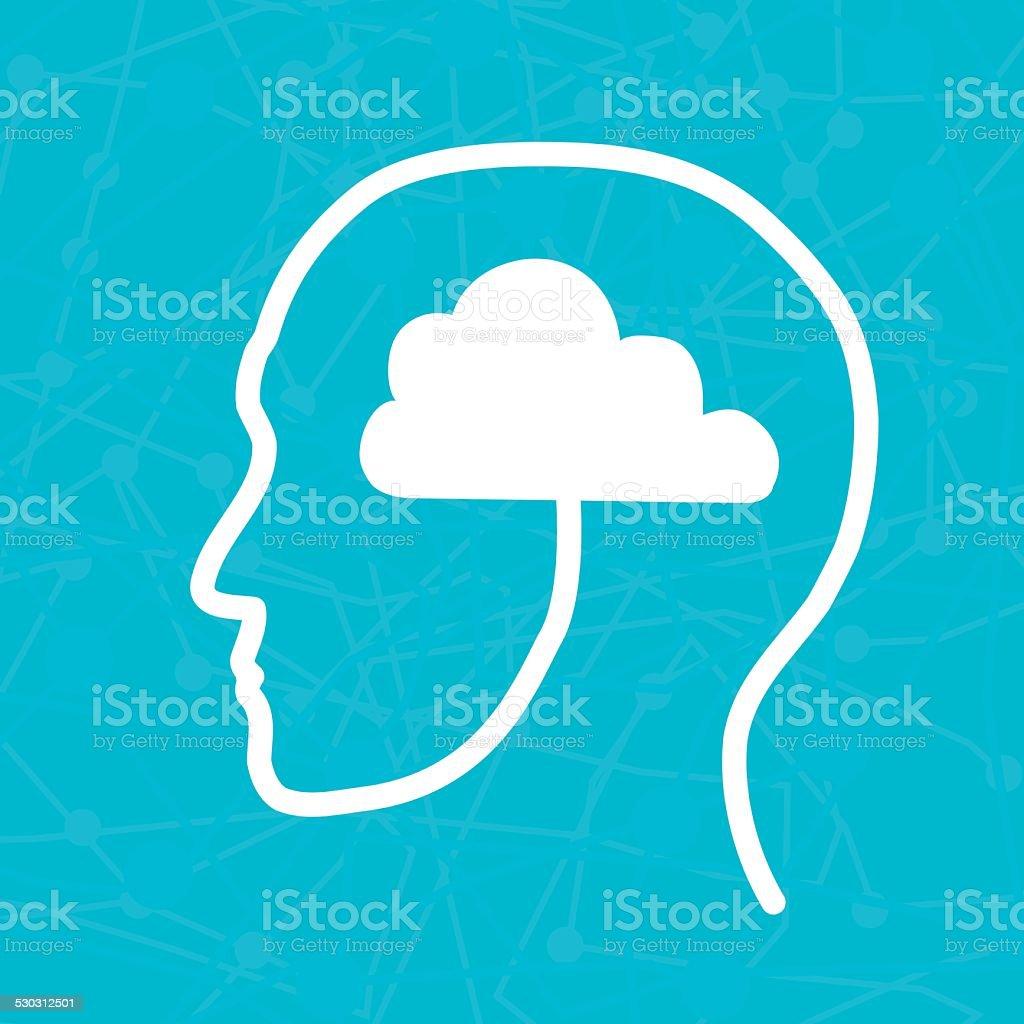 Profile Concept, Vector Illustration, blue background vector art illustration