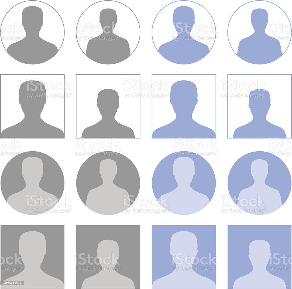 Profile icons vector art illustration