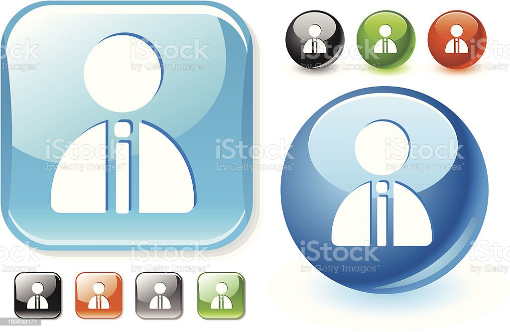 Profile male icon royalty-free stock vector art