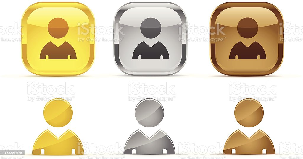 profile rank icons royalty-free stock vector art