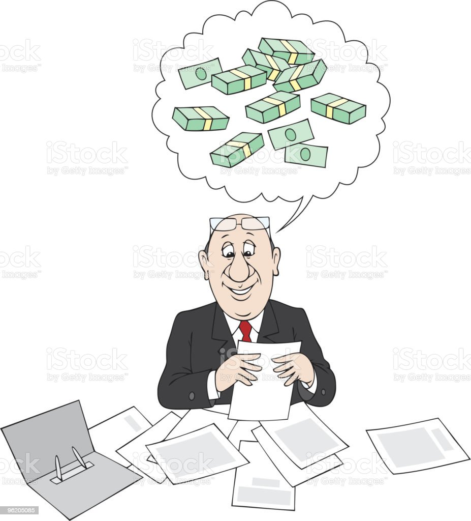 Profit count royalty-free stock vector art