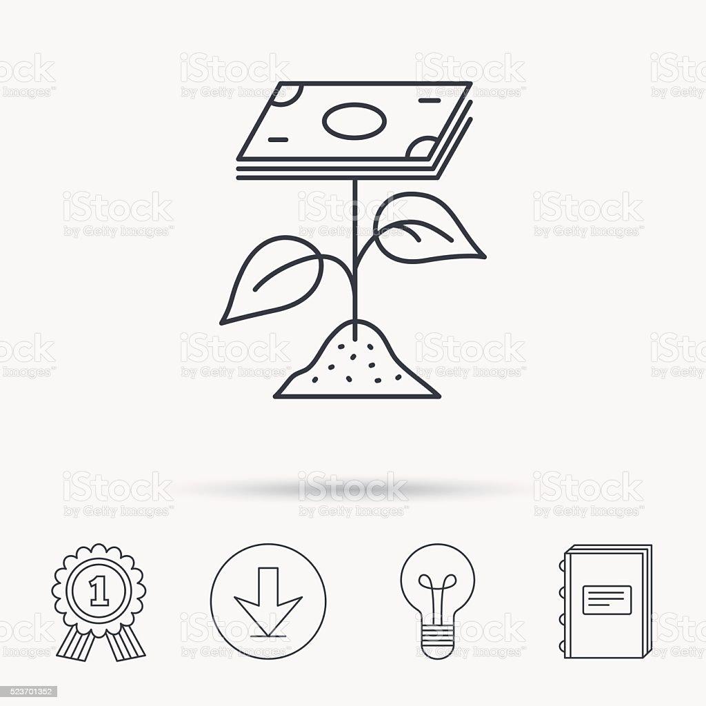 Profit icon. Money savings sign. vector art illustration