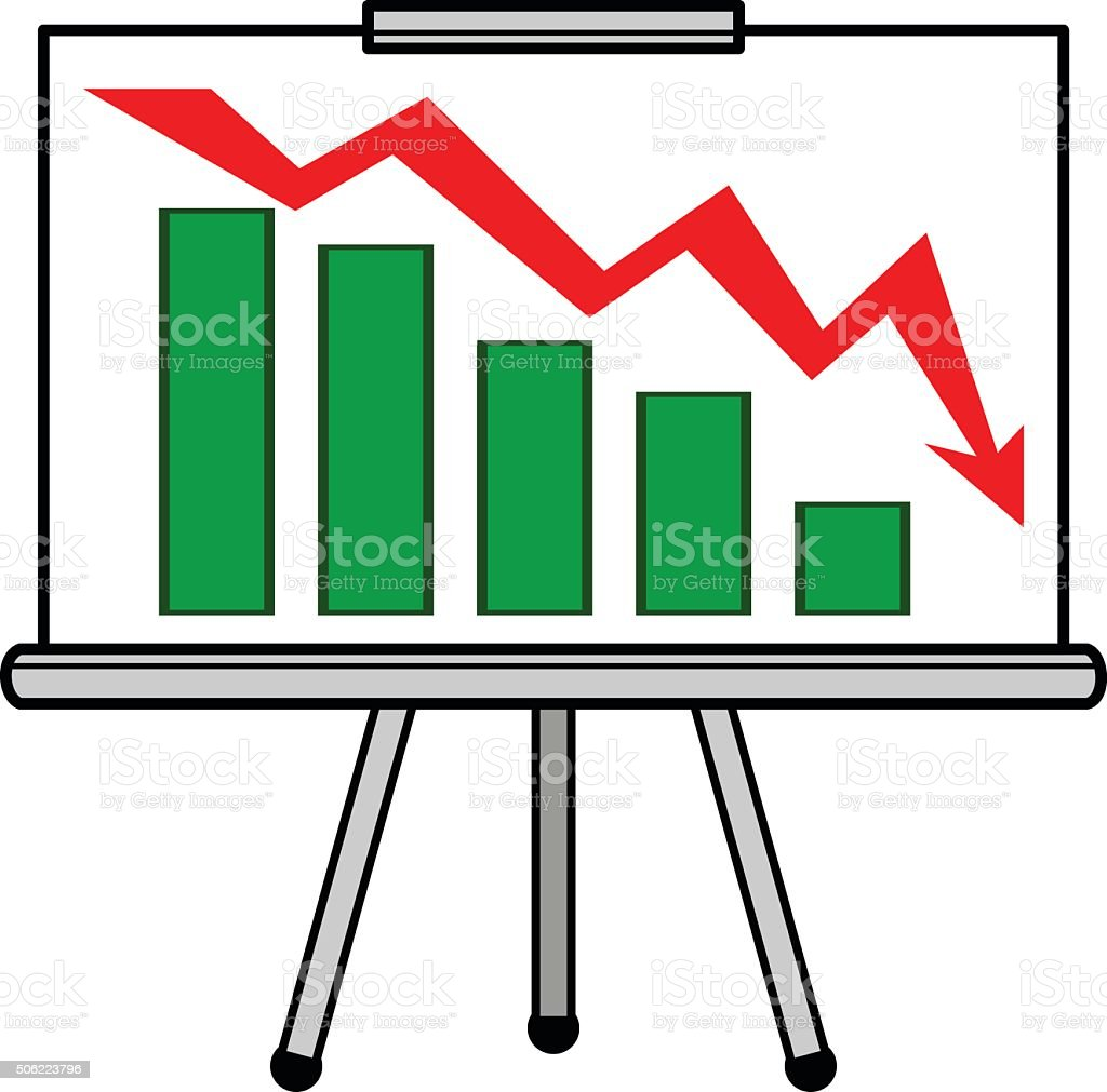 Profit Loss Presentation vector art illustration