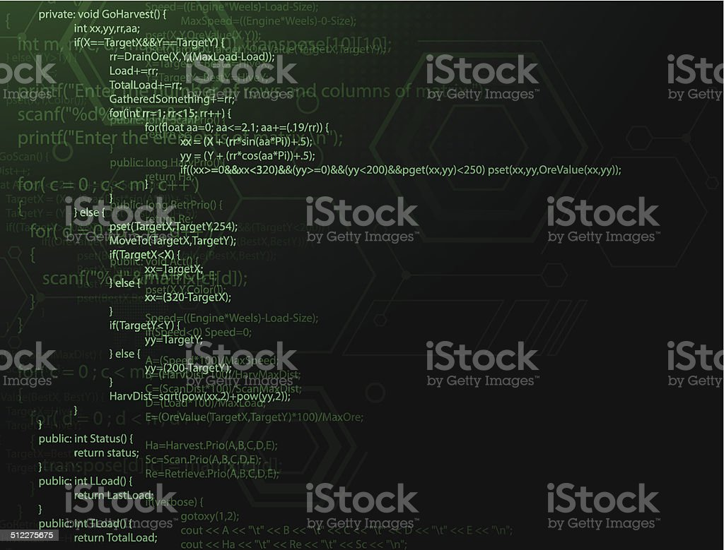 Program code vector art illustration