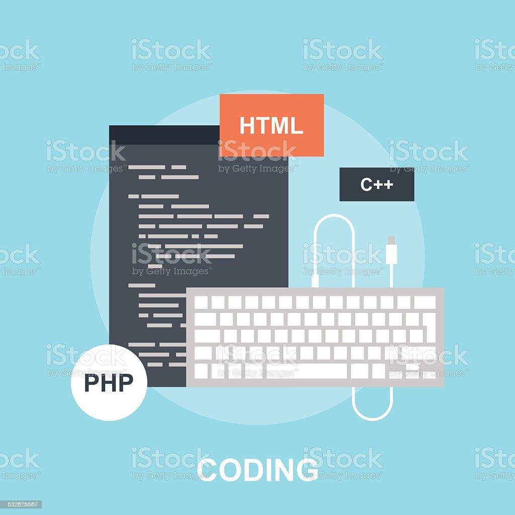 Program Coding vector art illustration