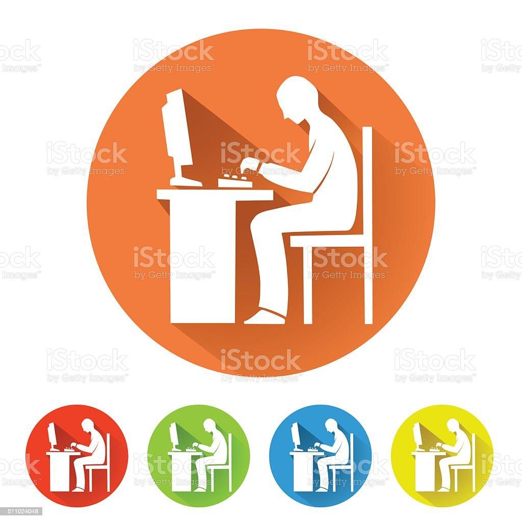 programmer symbol vector art illustration