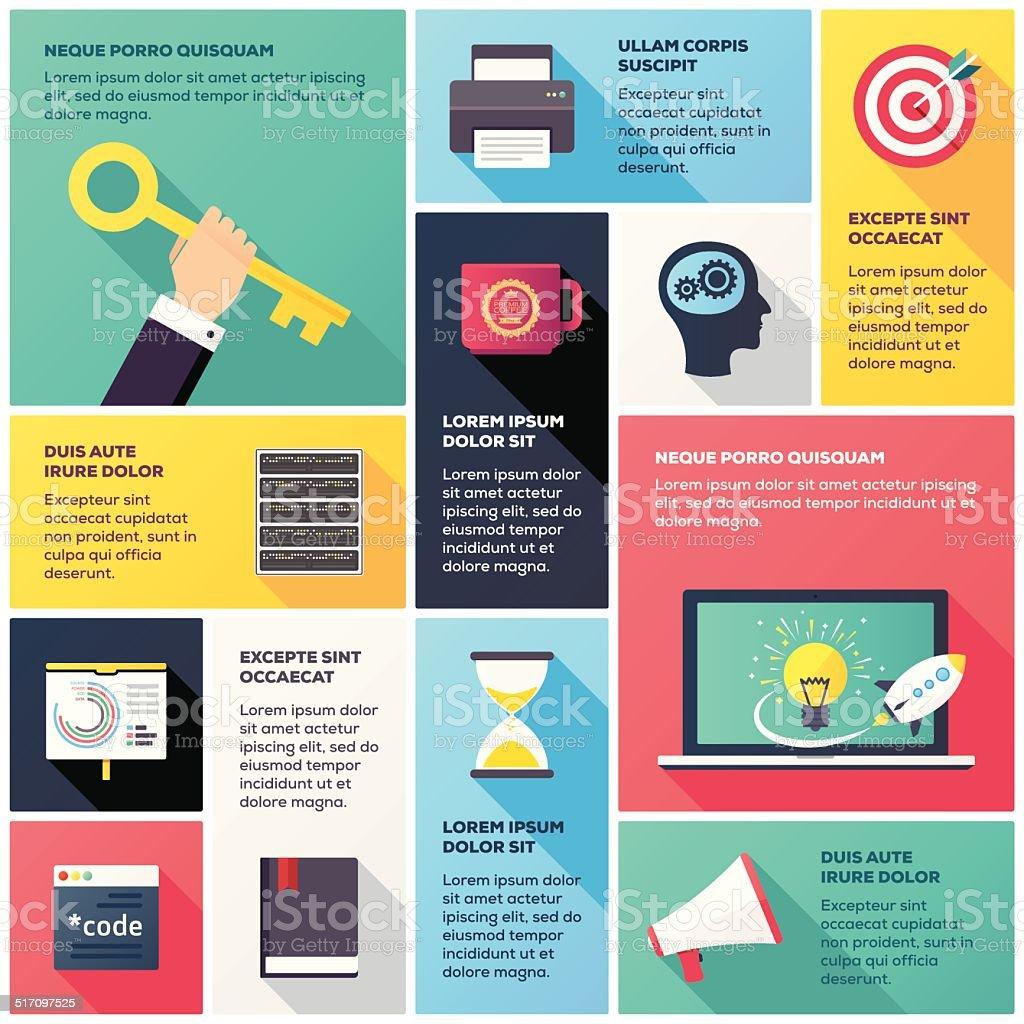Programming & Development Infographic vector art illustration