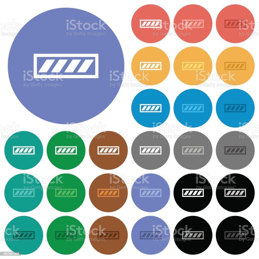 Progress bar round flat multi colored icons vector art illustration