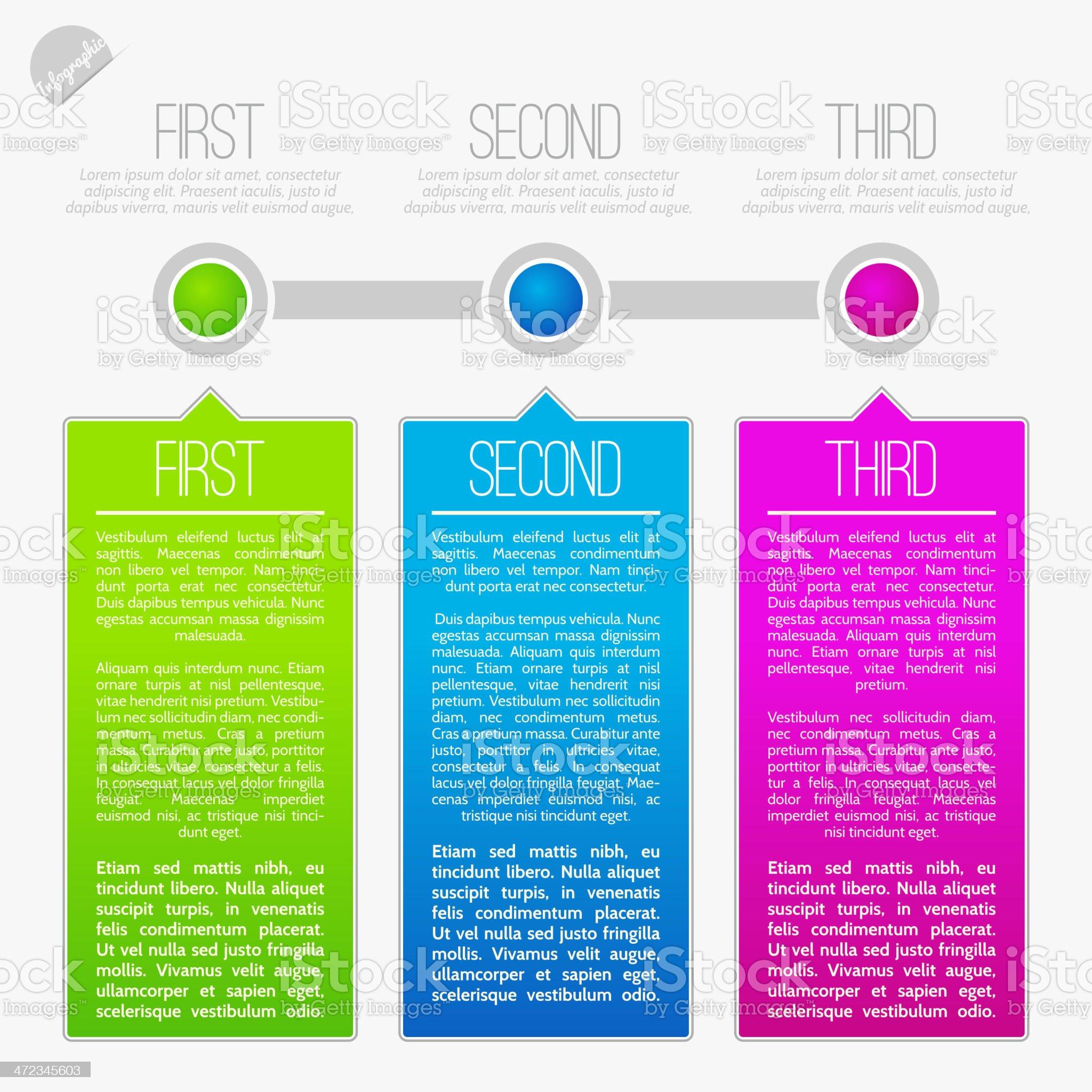 Progress infographics royalty-free stock vector art