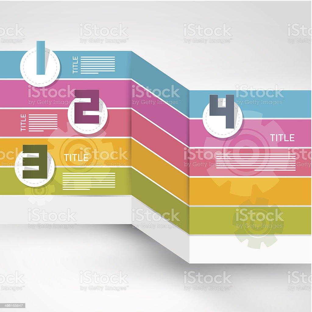 Progress Steps for Tutorial, Infographics royalty-free stock vector art