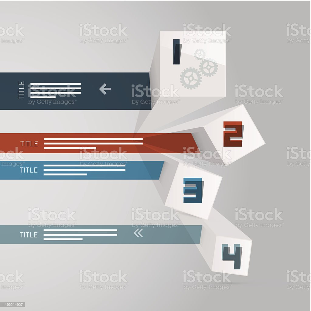 Progress Steps for Tutorial, Infographics royalty-free stock vector art