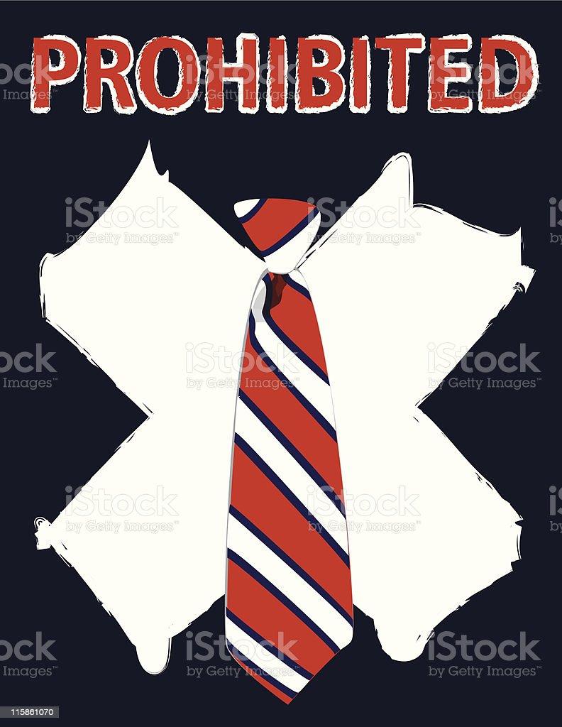 Prohibited Tie royalty-free stock vector art