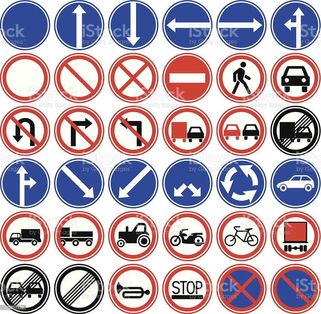Prohibited traffic signs. royalty-free stock vector art