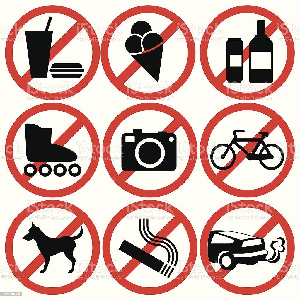 prohibited royalty-free stock vector art
