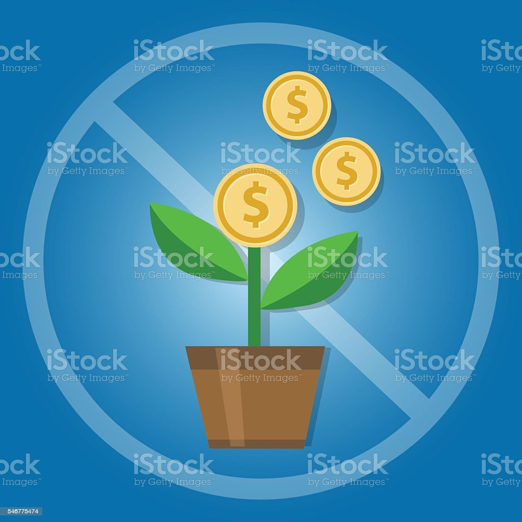 prohibition of compound interest in Islamic banking money investment vector art illustration