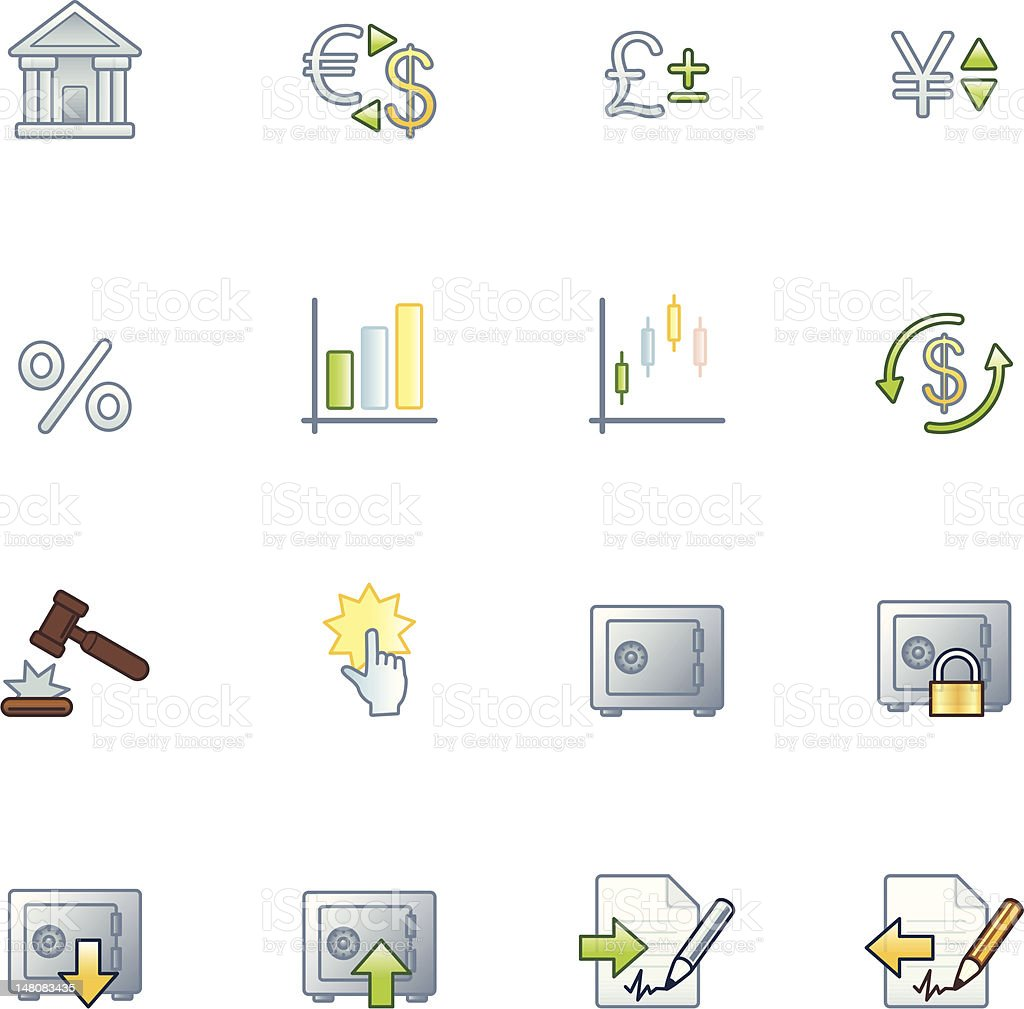 project finance icons royalty-free stock vector art