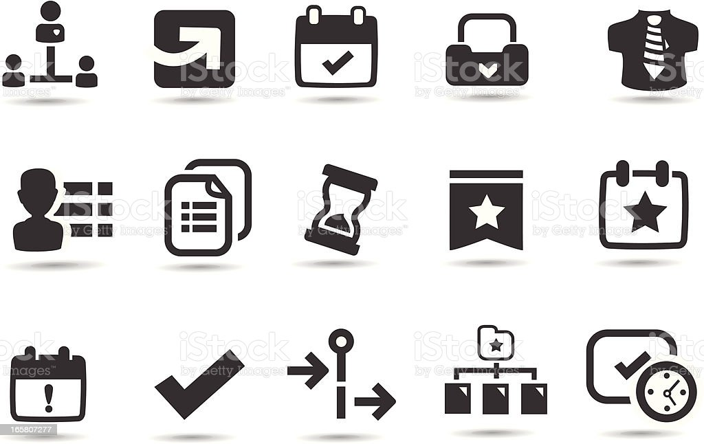 Project Icons vector art illustration