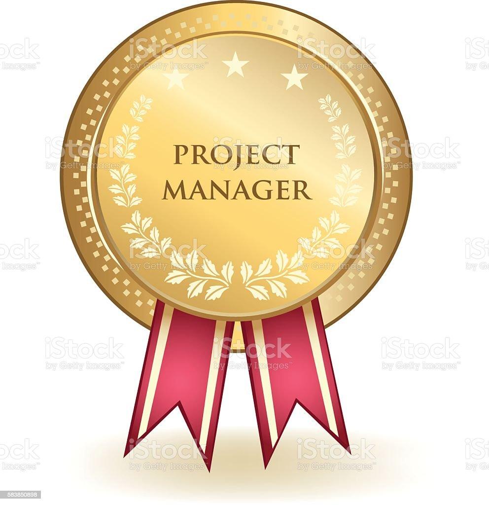 Project Manager Award vector art illustration