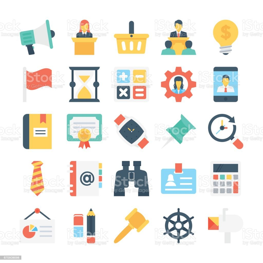 Project Managment Colored Vector Icon 7 vector art illustration